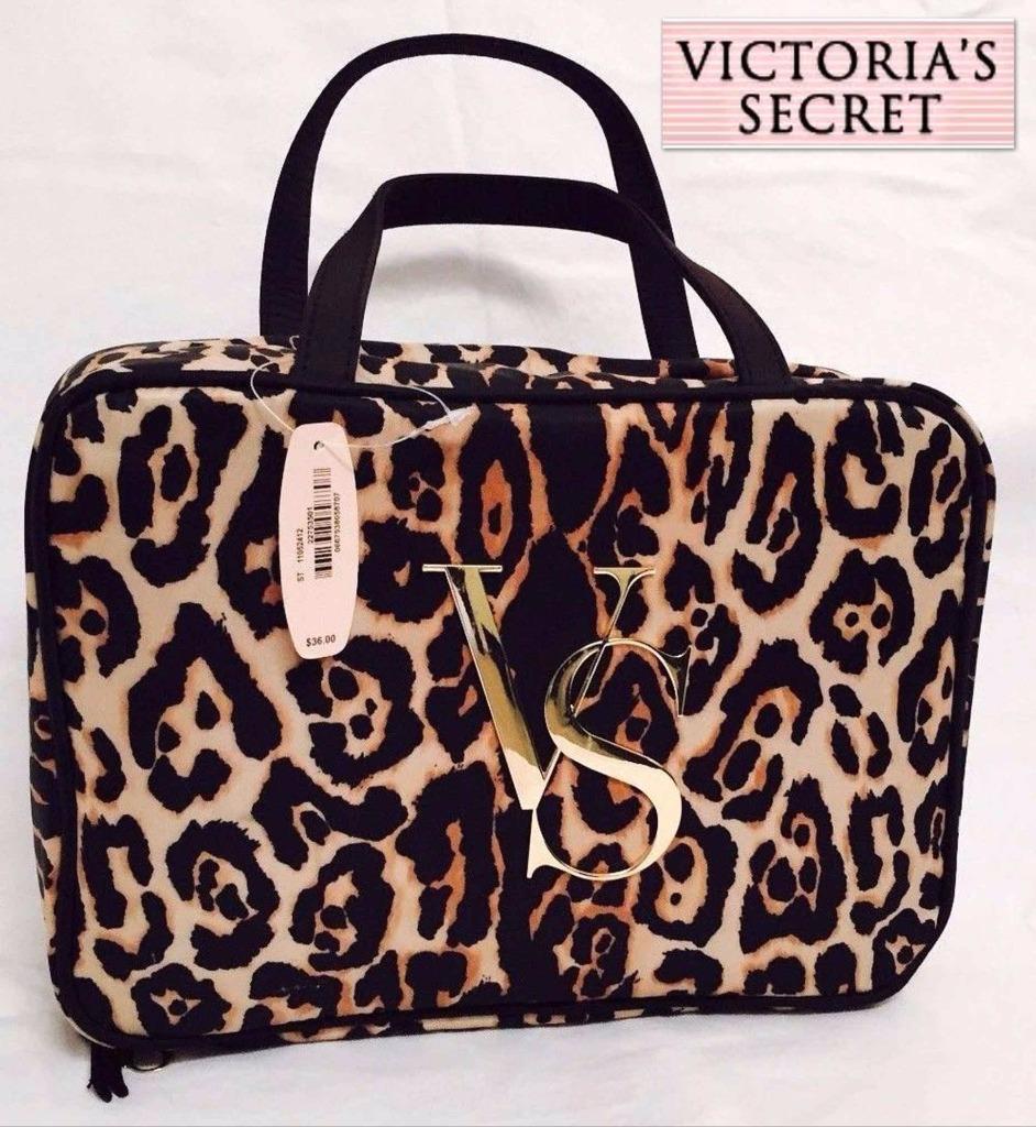 Bolsa Dourada Victoria Secrets : Bolsa victoria s secret cosmeticos colgante leopardo super