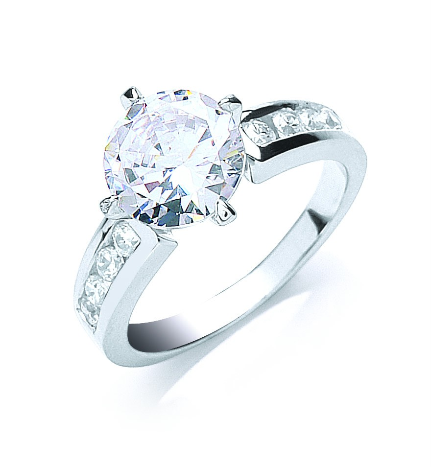 9mm-Solitaire-Cubic-Zirconia-Channel-Set-Ring-925-Silver-Rhodium-Plated