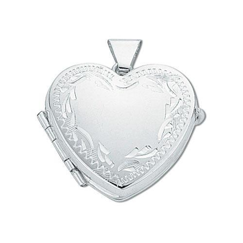 Sterling Silver Heart Shaped 4 Photo Family Locket 20x20mm