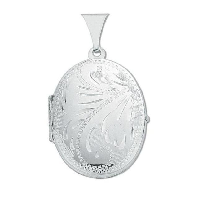 Sterling Silver Oval Shaped 2 Photo Locket 25x20mm
