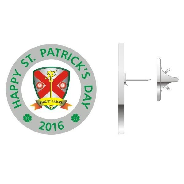 250 Own Logo School St Patrick's Day Metal Lapel Pin Badges 2017