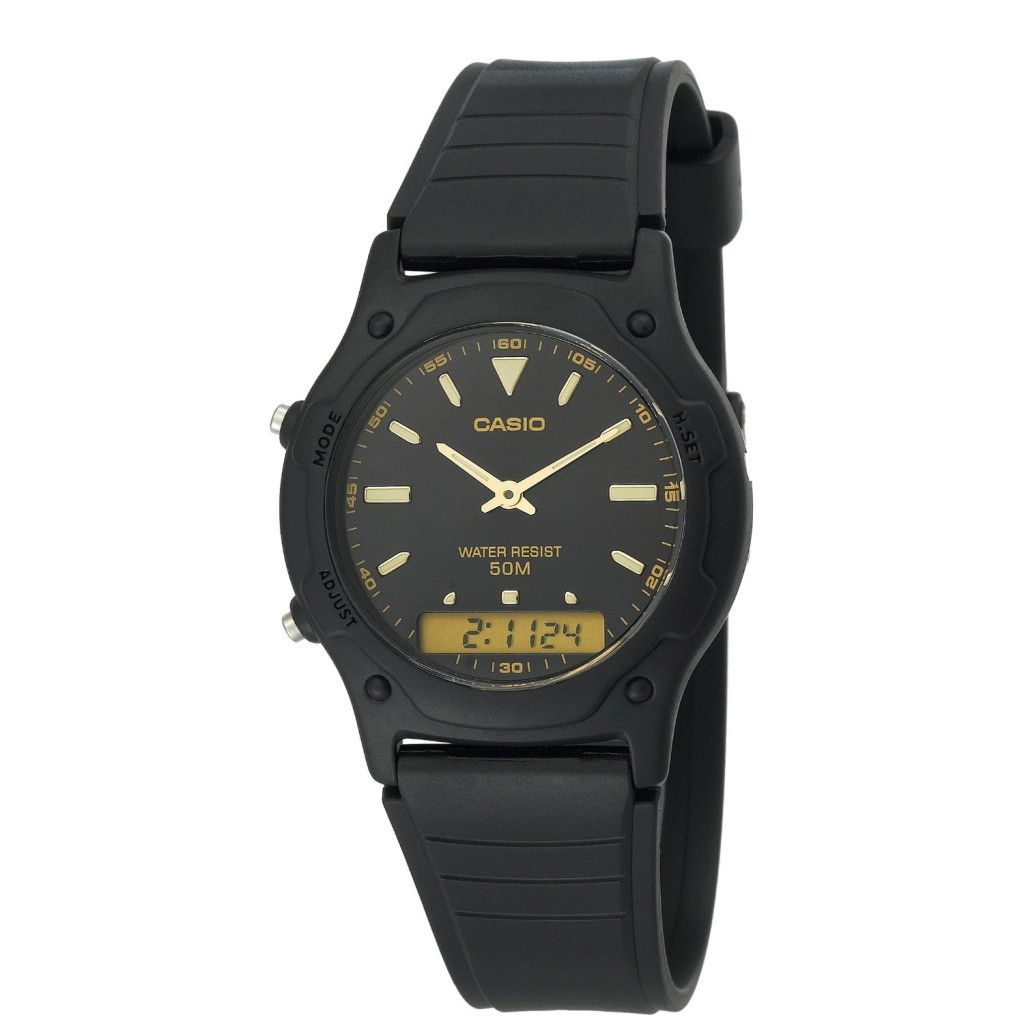BRAND NEW CASIO BLACK RESIN DIGITAL SPORT MENS BOYS KIDS ...