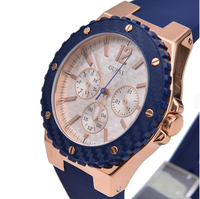 BNIB Guess W0149L5 U0149L5 Overdrive Rose Gold Chronograph ...