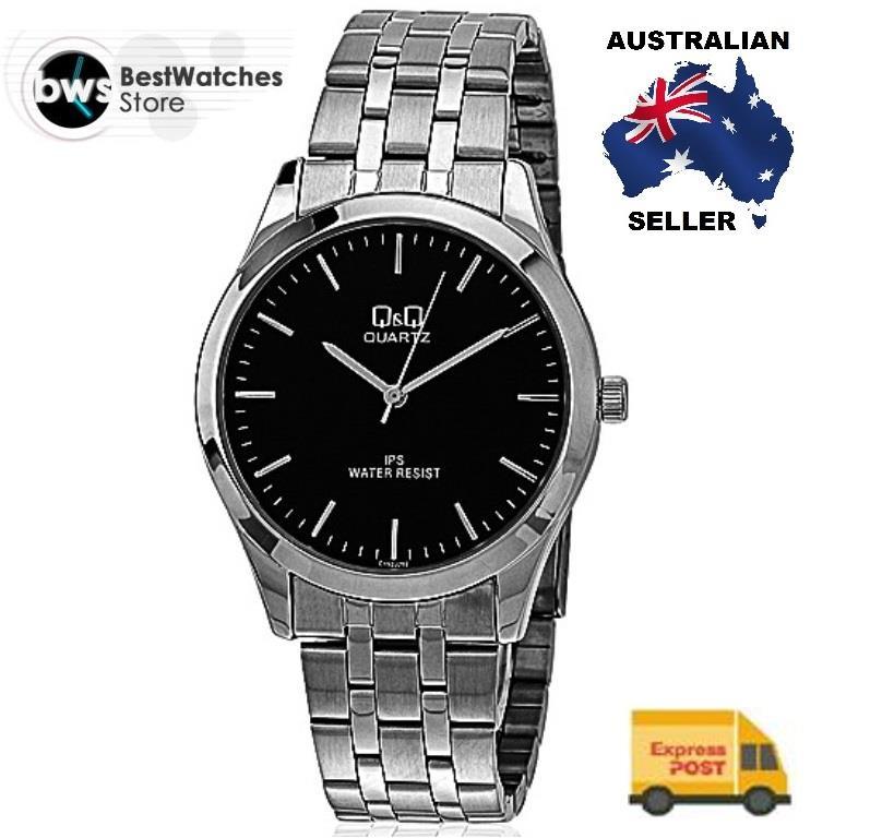 citizen made q amp q c152j202y classic black dial steel strap mens citizen made q q c152j202y classic black dial steel strap mens watch