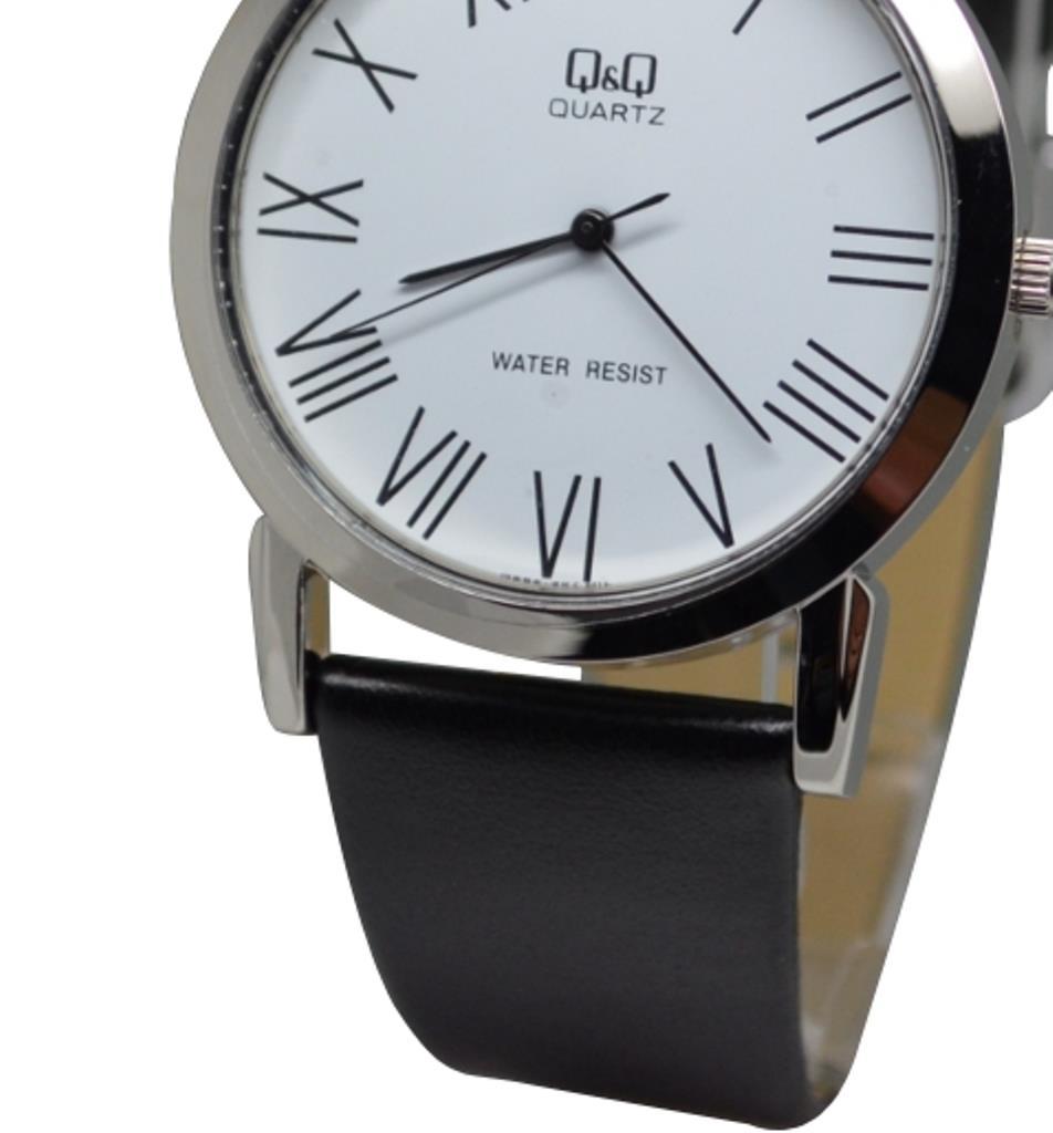 citizen made q amp q q662j307y classic dial black leather strap n a