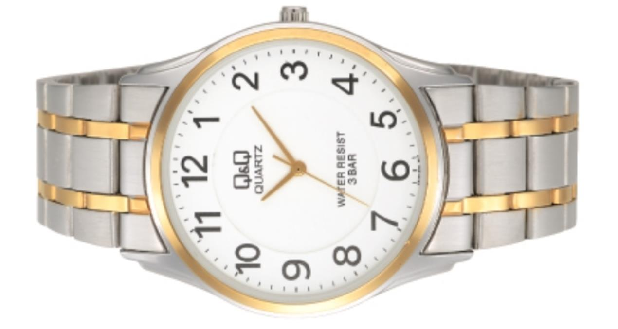 citizen made q amp q vn16j404y 36mm gold and silver body metal citizen made q q vn16j404y 36mm gold and silver body metal strap watch for men