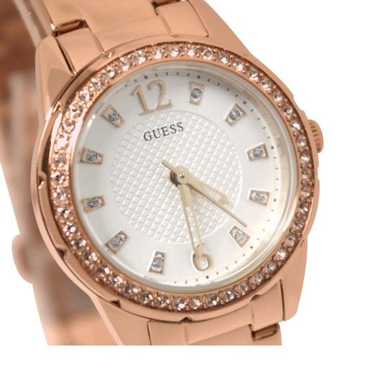 BNIB GUESS W0445L3 U0445L3 ROSE GOLD DESIRE TONE SET WHITE ...