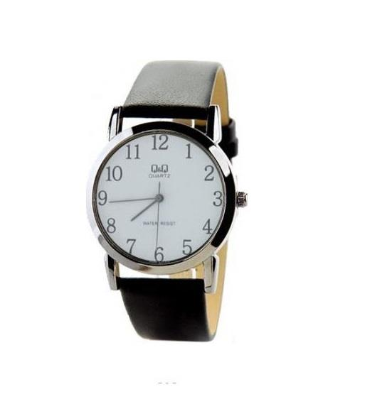 citizen made q amp q q662j304y classic white dial leather strap n a