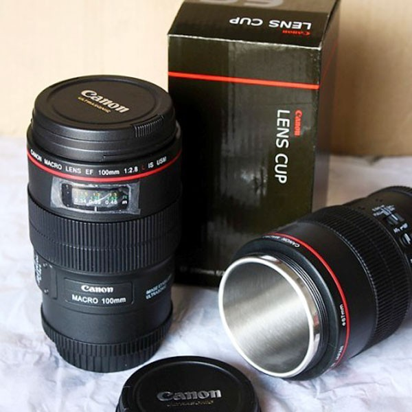 Canon Camera Lens Cup Ef Macro 100mm Thermos Travel Tea