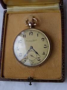 RRR Antique Art Deco IWC Schaffhausen gold pocket watch