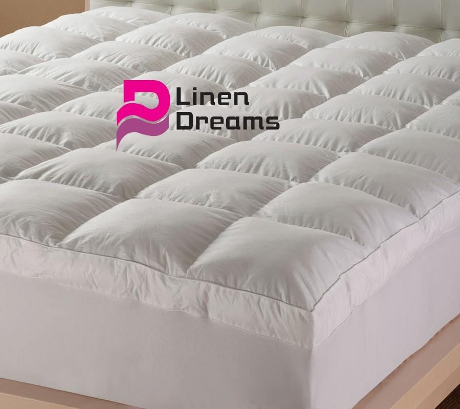 QUEEN-SIZE-Luxury-Pillowtop-Mattress-Topper-Protector-5-Star-Hotel-Quality