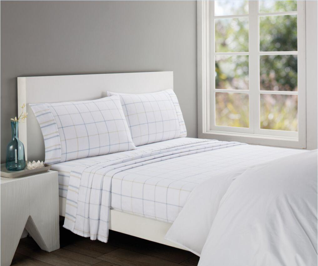 queen 1000tc egyptian cotton flannel flannelette flat fitted sheet set white ebay. Black Bedroom Furniture Sets. Home Design Ideas