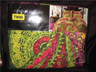 about cynthia rowley girl twin quilt modern tropical paisley floral