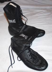 everlast mens black leather boxing boots shoes lace up