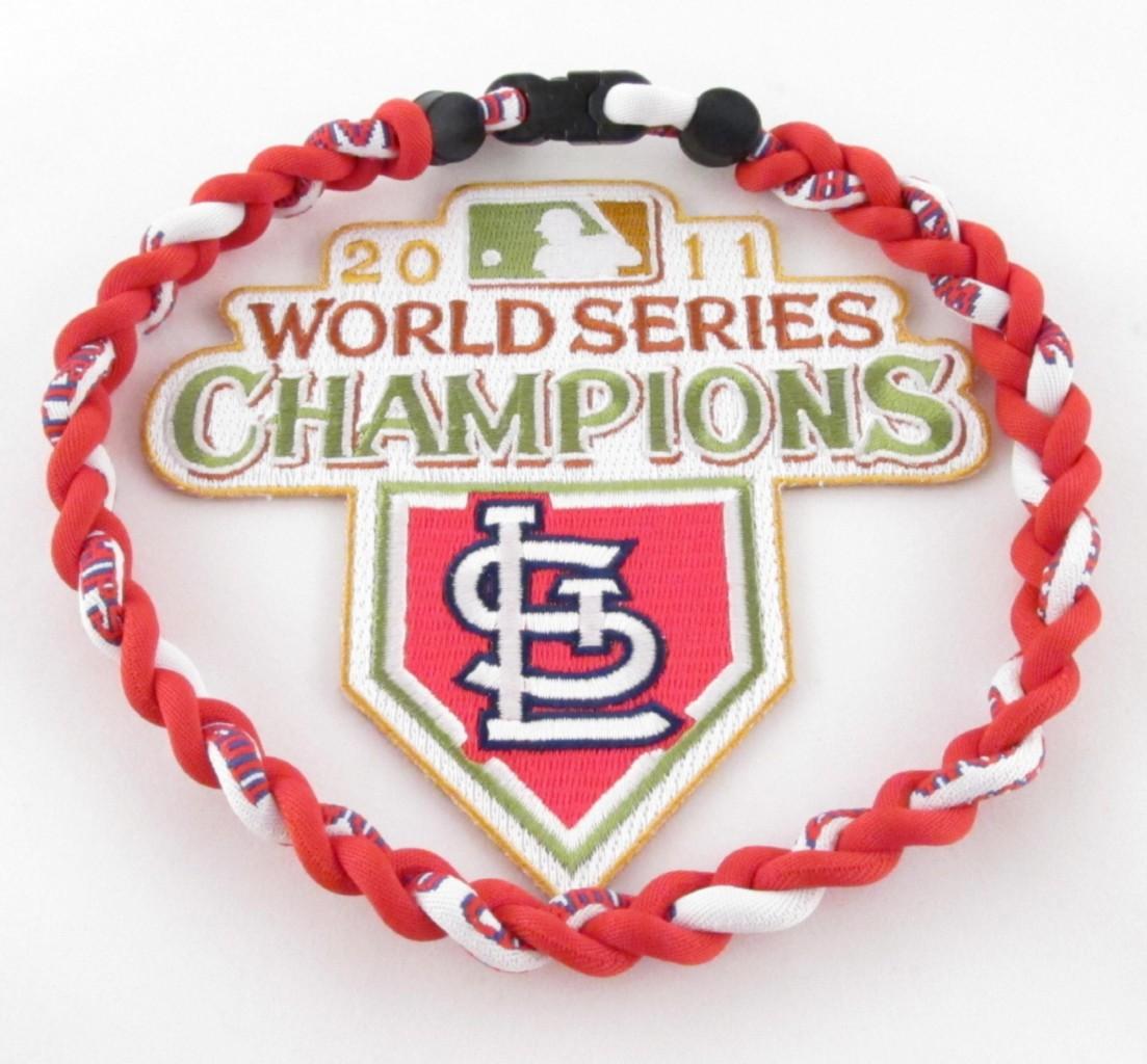 St-Louis-Cardinals-2011-World-Champs-Titanium-Baseball-Necklace-MLB-5-Sizes