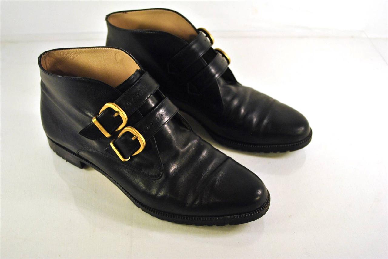 Details about Authentic Salvatore Ferragamo Black Leather Womens Boots