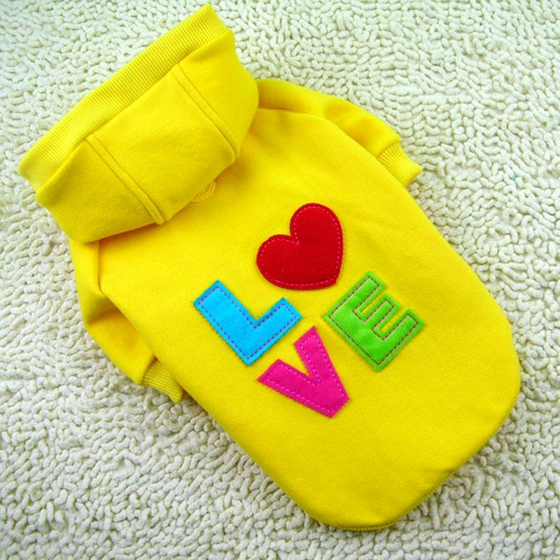 Yellow-Dog-Puppy-Clothes-Soft-Cotton-Love-Coat-Hoodie-100-High-Quality-New
