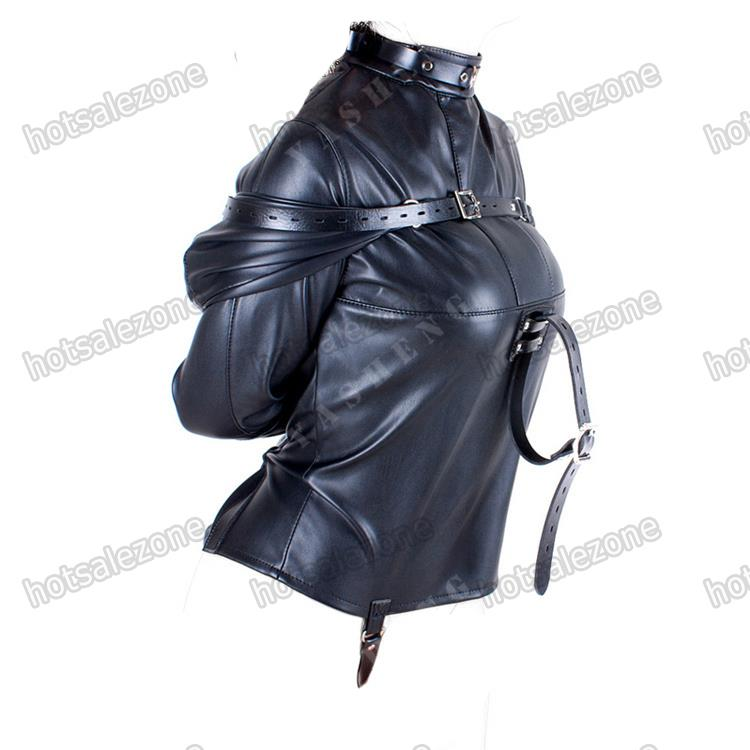 Women&amp039s Straitjacket PU Leather Strict Kinky Straight Jacket