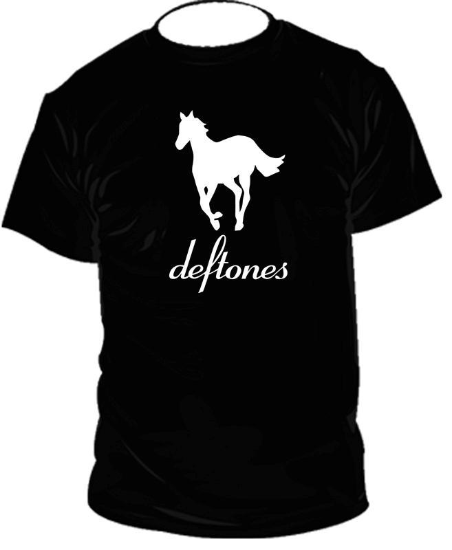 "DEFTONES ""White Pony"" Rock Band t-shirt logo  Black&White  tee SIZES S-XXL"