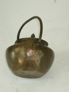 Antique asian copper tea kettles