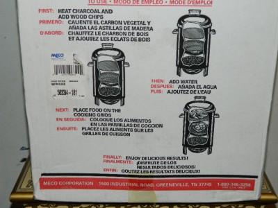 meco charcoal water smoker manual