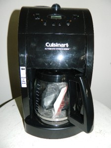 Cuisinart Grind And Brew Coffee Maker White : CUISINART GRIND & BREW COFFEE MAKER MODEL DGB 475 - BLACK eBay