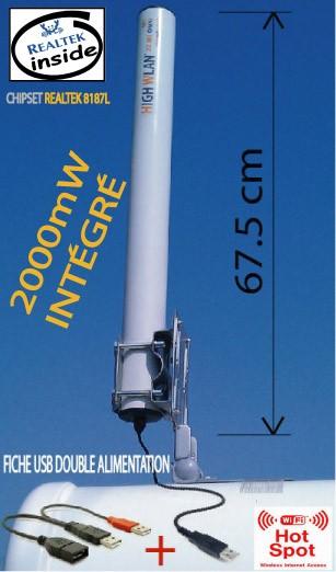 Antenne wifi usb omni 22 dbi 2000mw camping car ebay - Antenne wifi longue portee omnidirectionnelle 22 dbi ...