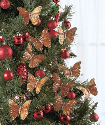 gold butterfly christmas decorations  Rainforest Islands Ferry