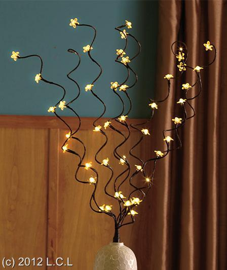 Decorative led lighted branches centerpiece floral