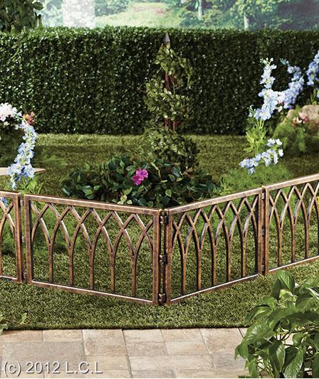 Border fencing for walkway flowerbed garden look of