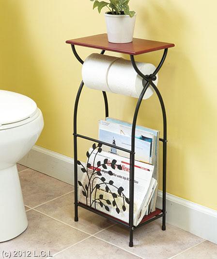 Metal Tree Accented Bathroom Furniture Towel Stacker Magazine Rack And Or Shelf Ebay