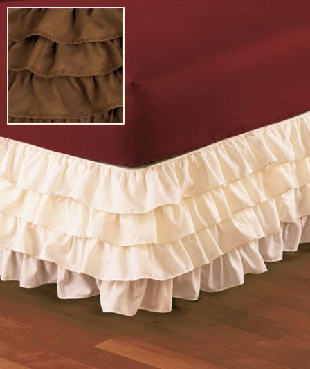 wrap around ruffled elastic banded bedskirt in twin full queen or king 4 colors ebay. Black Bedroom Furniture Sets. Home Design Ideas