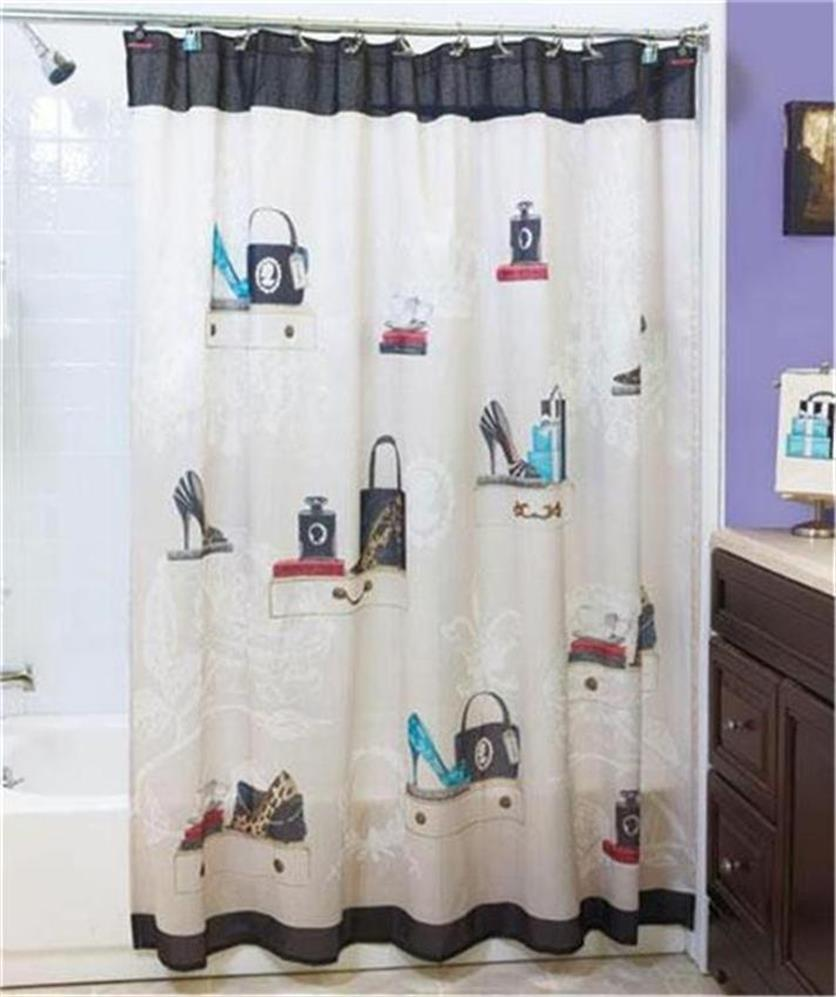 ... -SHOE-PURSE-THEMED-BATH-COLLECTION-SHOWER-CURTAIN-TOWELS-RUG-amp-MORE