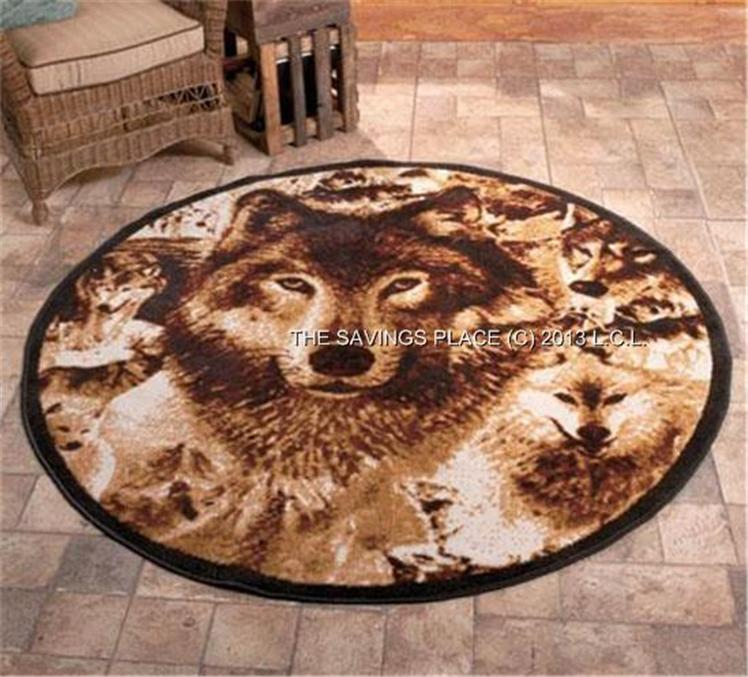 RUSTIC LODGE INSPIRED DETAILED IMAGE WILDLIFE RUGS - DEER ...