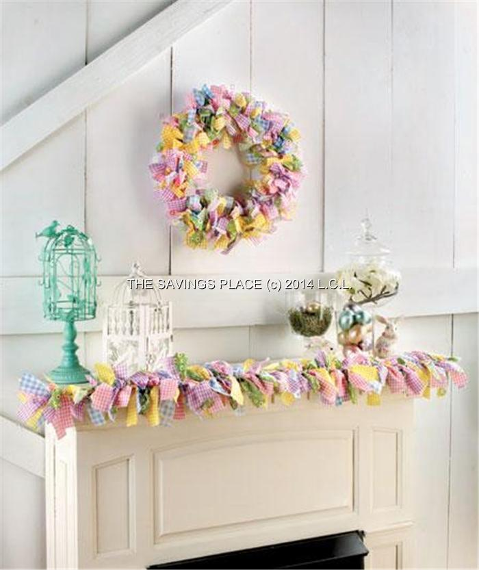 Touch Of Country Gingham Rag Wreath And Or Garland Home Decor Celebrate Spring Ebay
