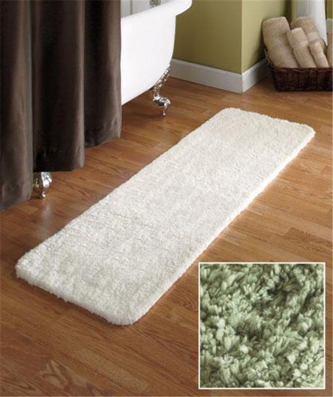 54 microfiber plush bathroom bath runner rug w nonslip backing in beige ebay