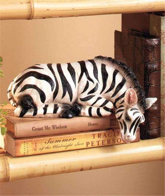 Safari animal detailed zebra giraffe deer shelf sitter for Zebra home decor