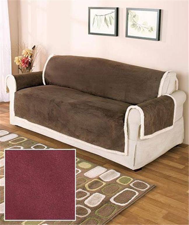 microsuede and sherpa protective furniture sofa love seat
