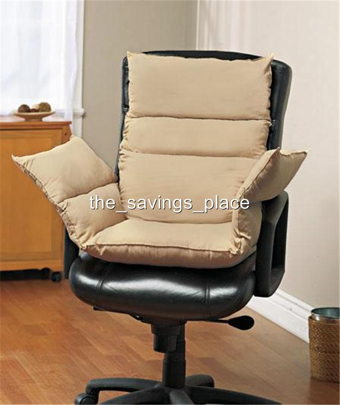 COZY CHAIR SEAT BACK AND ARMS CUSHION FOR EXTRA SUPPORT AND COMFORT 3 COLORS