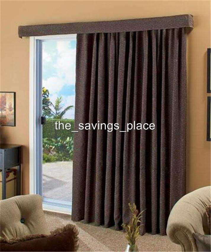 140 Contemporary Textured Woven Patio Door Window Curtain