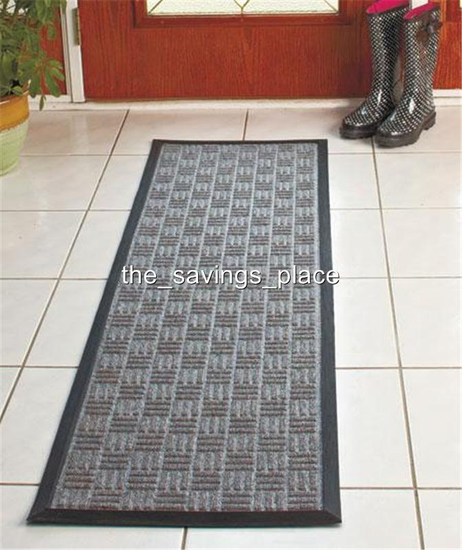 Indoor outdoor utility runner rug ribbed design rubber for Indoor outdoor runners rugs