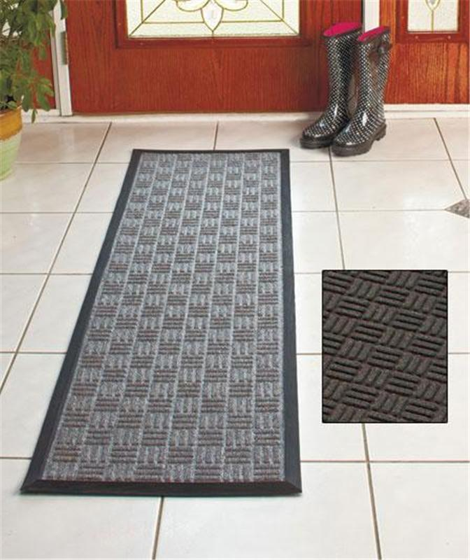 Indoor Outdoor Utility Runner Rug Ribbed Design Rubber