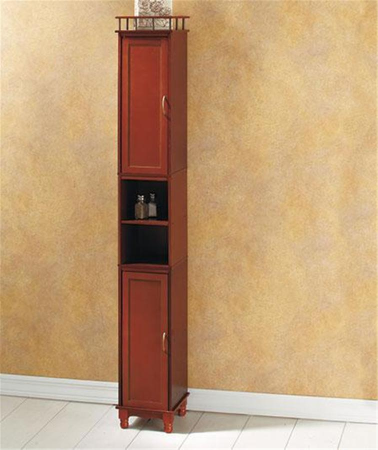 65 Quot Tall Handsome Wood Space Saver Slim Storage Cabinet