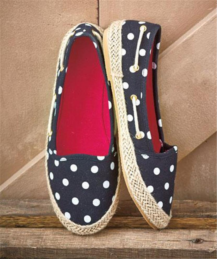 womens casual canvas slip ons espadrilles boat shoes easy