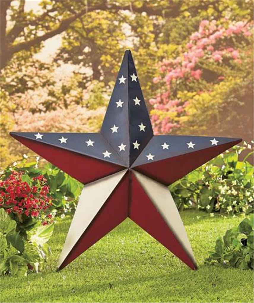 24 patriotic americana large scale barn star home decor hang or stake 2 designs ebay. Black Bedroom Furniture Sets. Home Design Ideas