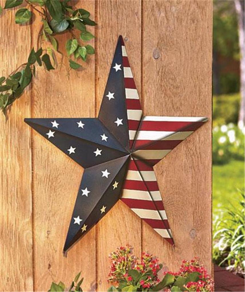 24 Patriotic Americana Large Scale Barn Star Home Decor