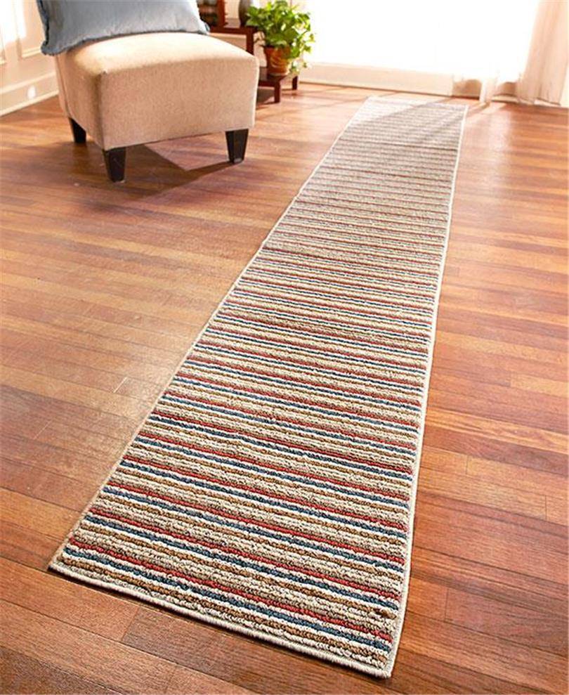 Extra long nonslip striped floor runner rug in spice 60 90 or 120 ebay - Extra long carpet runners ...