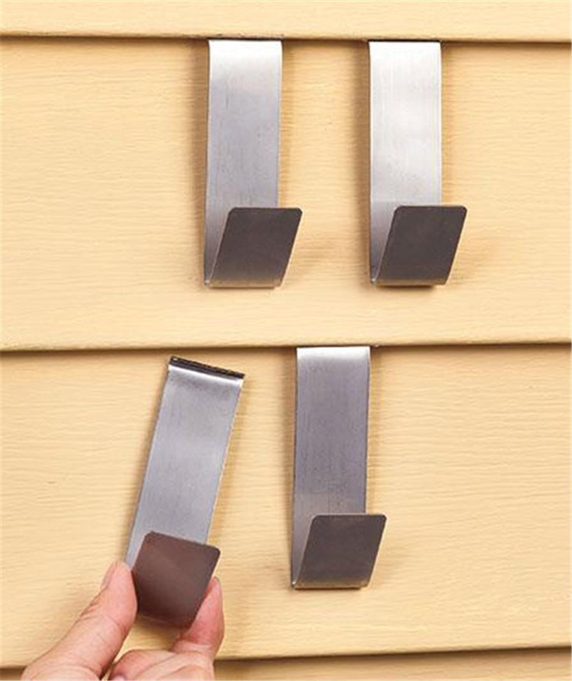 Set of 4 indoor outdoor tempered steel brick or stainless for Decoration clips