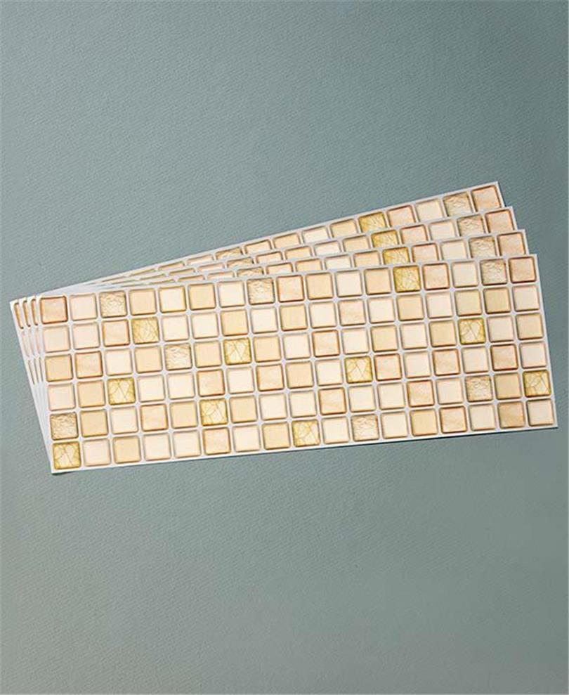 Backsplash Tile Sheets: SET OF 4 GLASS-STYLE KITCHEN BATH BACKSPLASH TILE SHEETS