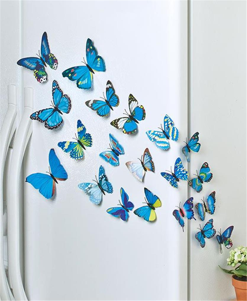 SET OF 20 MAGNETIC OR SELF ADHESIVE BUTTERFLIES